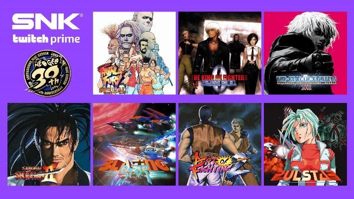 Twitch Prime ofrecerá GRATIS más de 20 juegos míticos de SNK