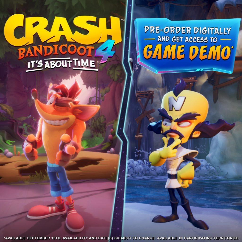La demo de Crash Bandicoot 4: It's About Time llegará en pocos días