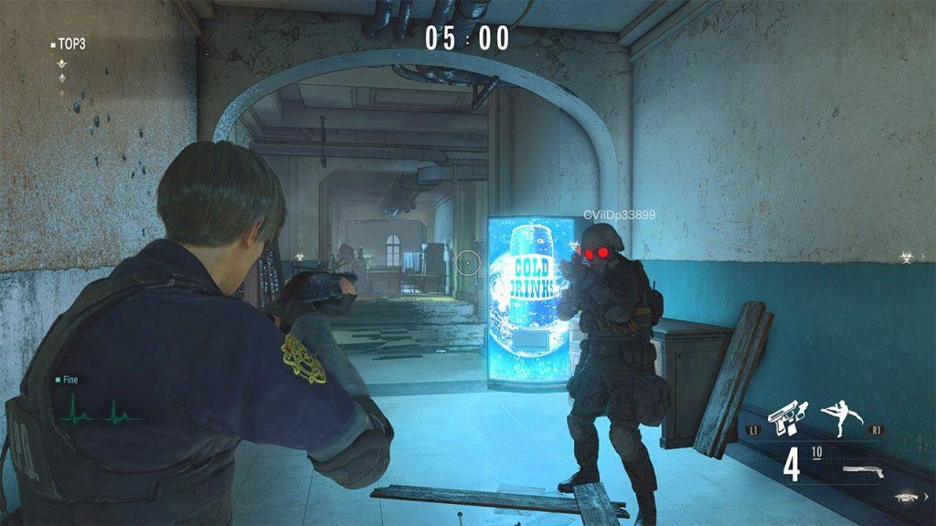 Leon en Resident Evil Re:Verse
