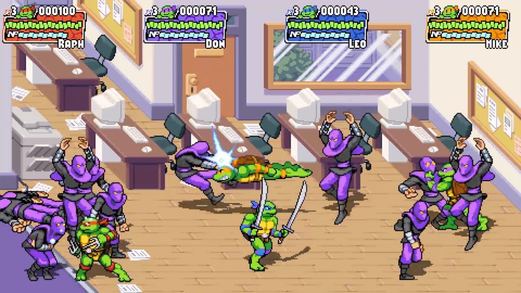 TMNT - Tortugas Peleando contra el Clan del Pie