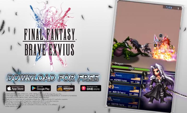 Sephiroth, el villano legendario llega a Final Fantasy Brave Exvius