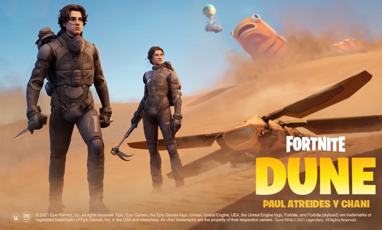Photo of Paul Atreides y Chani llegan a Fortnite directo desde Planeta Dune