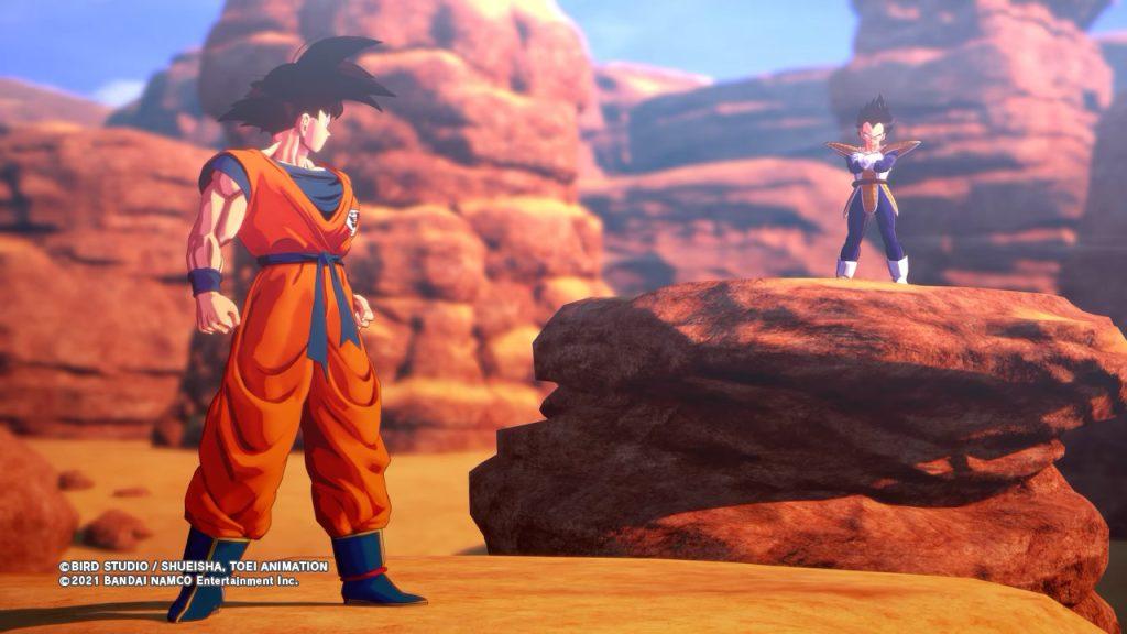 Goku y Vegeta listos para pelear