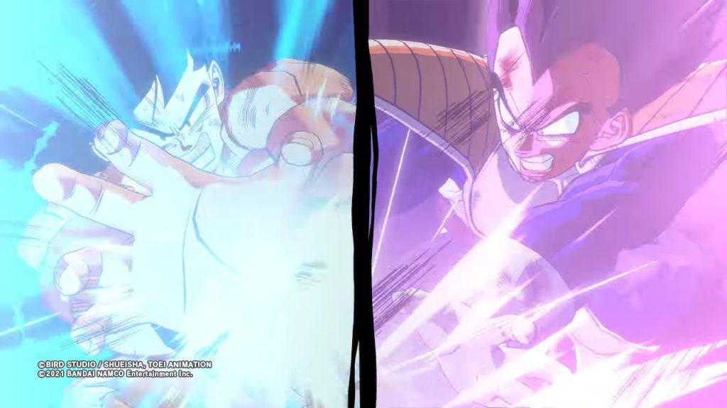 Choque de energia entre Goku y Vegeta